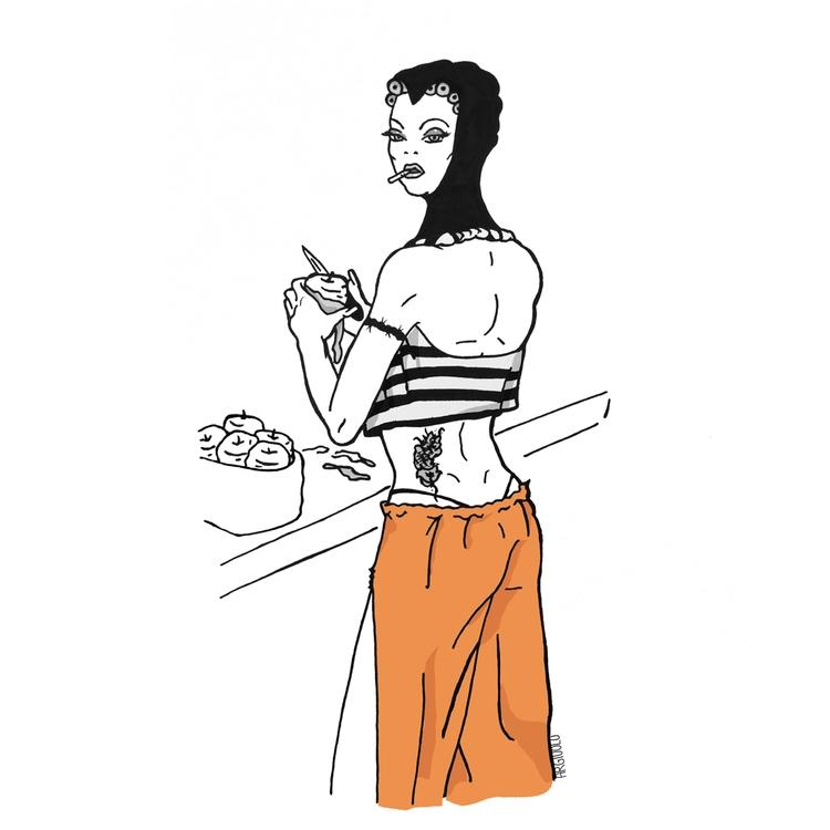 SocialRehab: Wicked Queen - illustration - argiuolo | ello