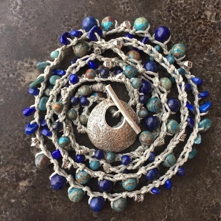 crochet necklace/wrap bracelet  - mariefrancine | ello