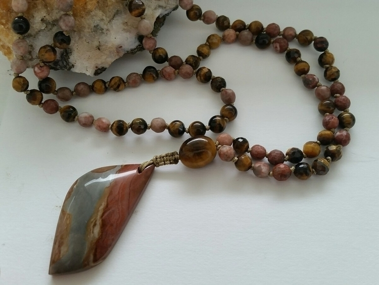Beautiful hand knotted Jasper E - elevatingvibrations | ello