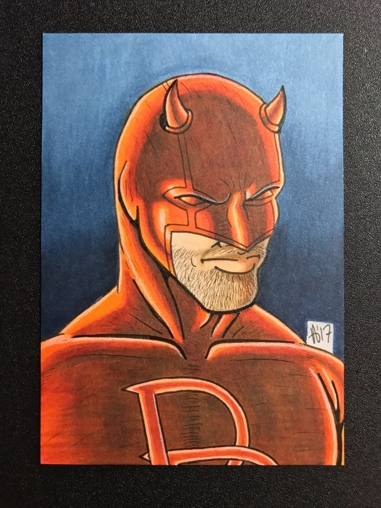Daredevil sketch card - cajuncajoleart | ello