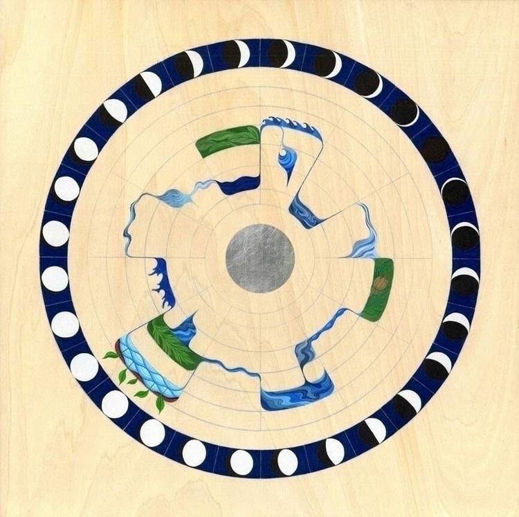 Mansions - Moon, zodiac, AcrylaGouache - granthanna | ello