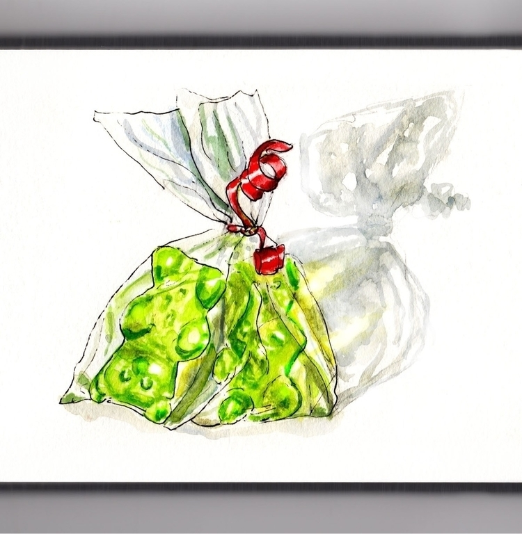Gummy Bears - watercolor, watercolour - doodlewash | ello