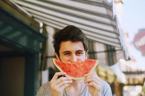 Hey babe eating watermelon summ - lydimors | ello