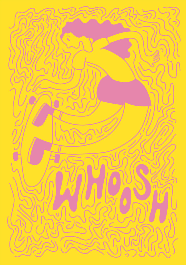 Whoosh - illustration, illustrator - heybop | ello