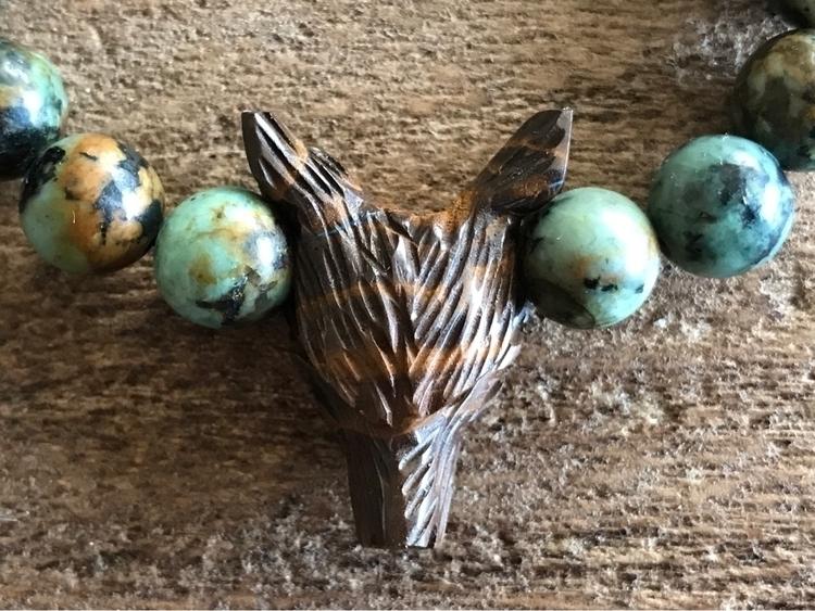 Boulder Opal Wolf + African Tur - findyourshakti | ello
