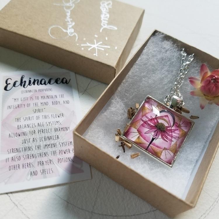 Echinacea plant spirit necklace - starseedsprouting | ello