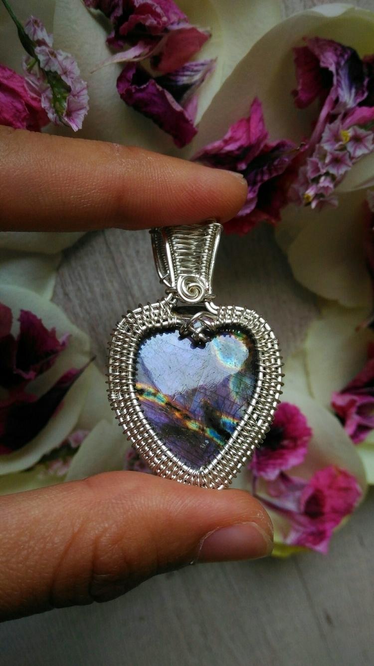 special pendant occasion  - labradorite#silverlabradorite#wicca#reiki - handmadejewelsbyfede | ello