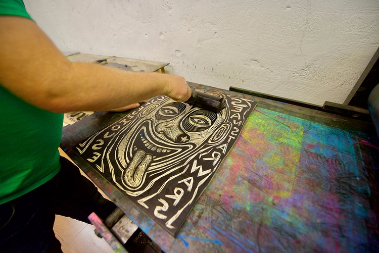Inking block current press. pre - seanstarwars | ello