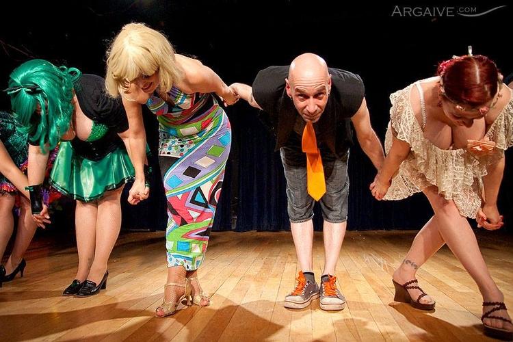cast crew takes bow  - candyasscabaret - velmacandyass | ello