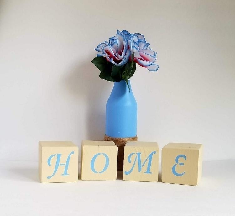 Cedar home blocks rustic blue c - thisuniquehome | ello