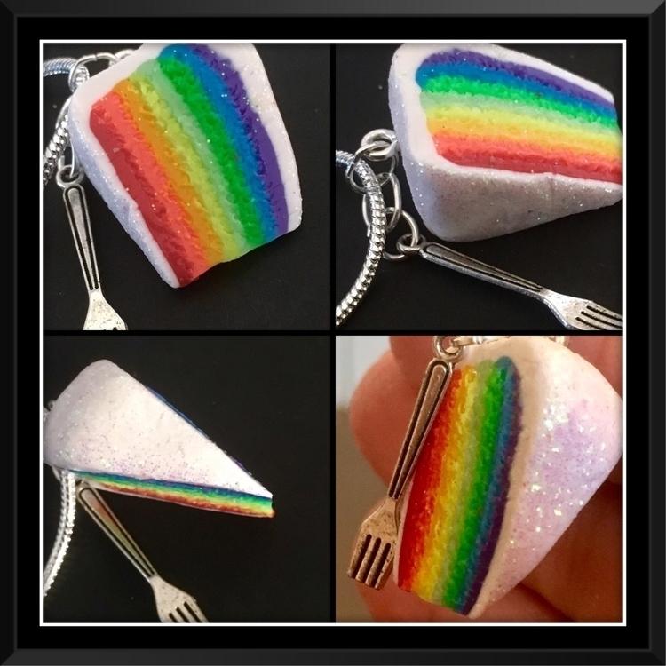 Rainbow Dream Cake Charm Neckla - inolascharms | ello