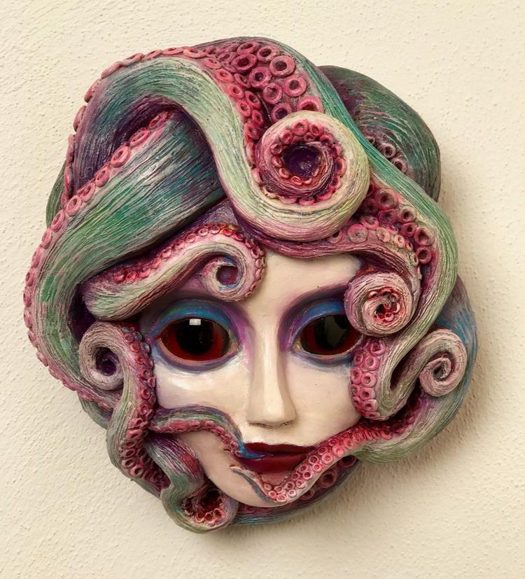 bizarre - octopus, face, popsurrealism - christinekharris | ello