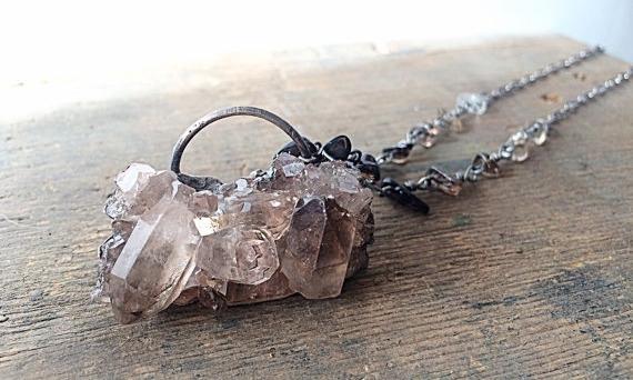 special cluster smoky quartz. l - amykaeatelier | ello