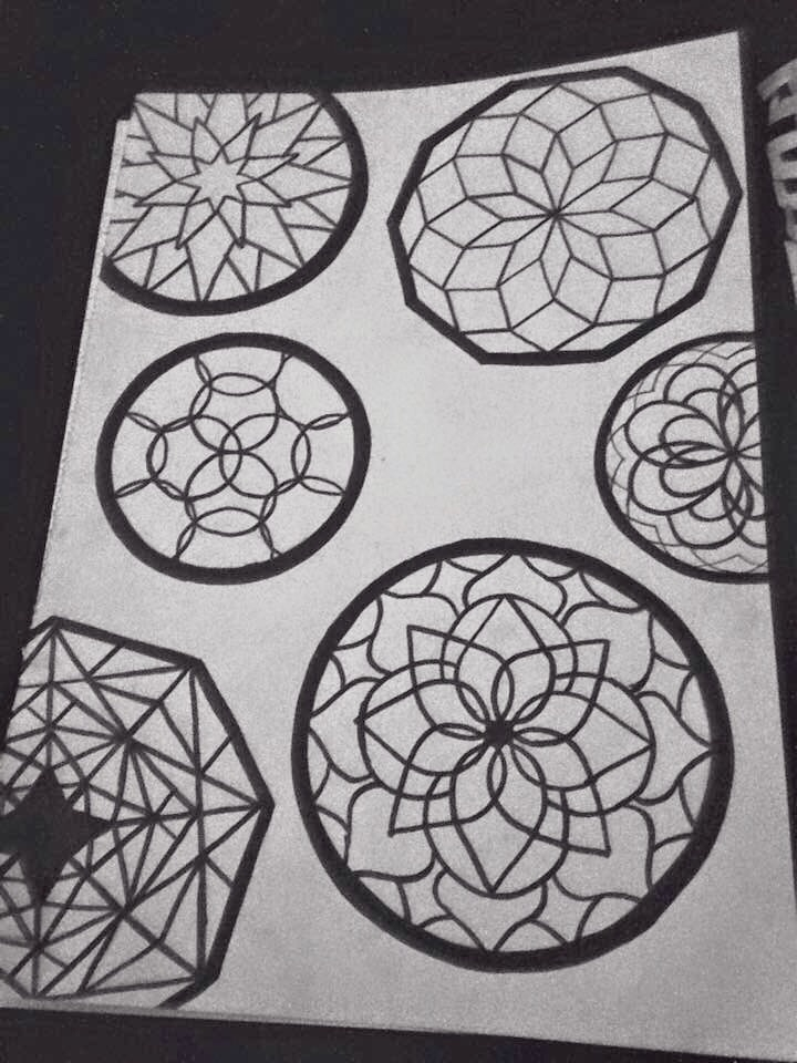 Doodle Shapes - Dotwork, Drawing - kristalcave | ello