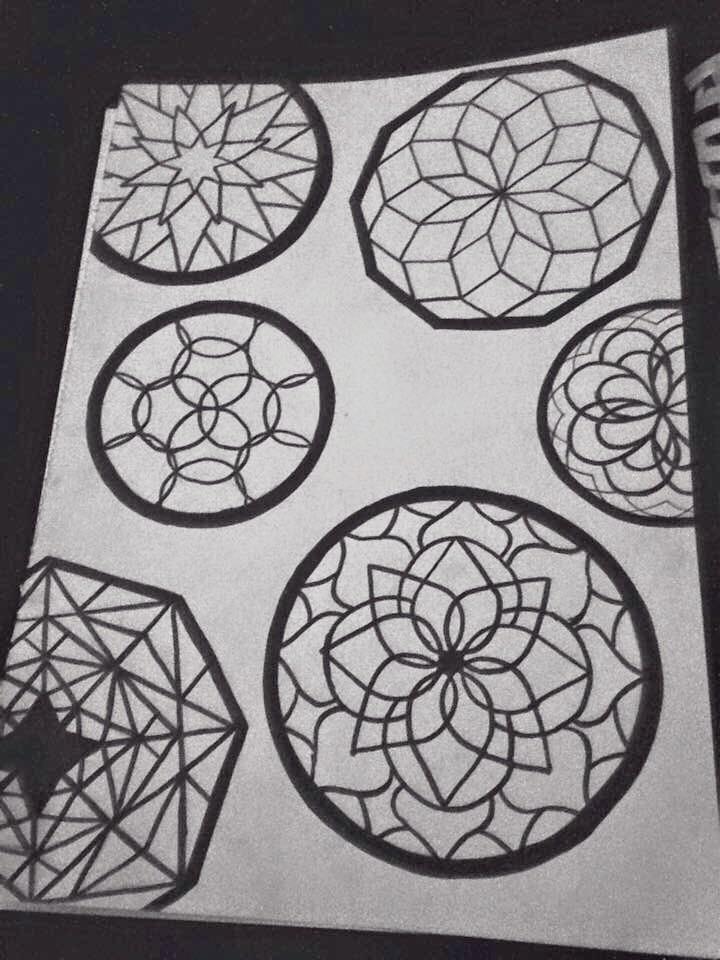 Doodle Shapes - Dotwork, Drawing - kristalcave   ello