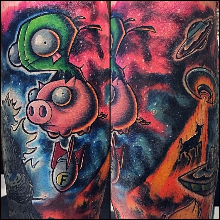 Gir riding space piggy dropping - dasfrankart | ello