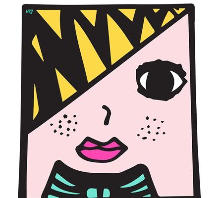 Chica cuadrada - AzuldeLimón - azuldelimon | ello