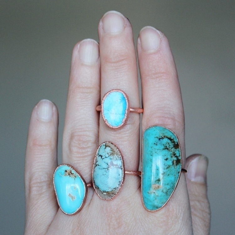 turquoise, handmade, rings, ellojewelry - citrinevail   ello