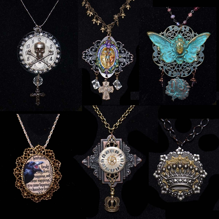Samples Steampunk/Goth jewelry  - incarnations | ello