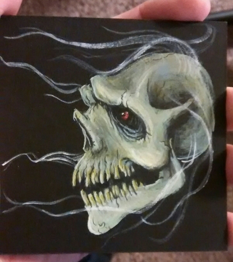 completed small painting - zombienose - zombienose | ello