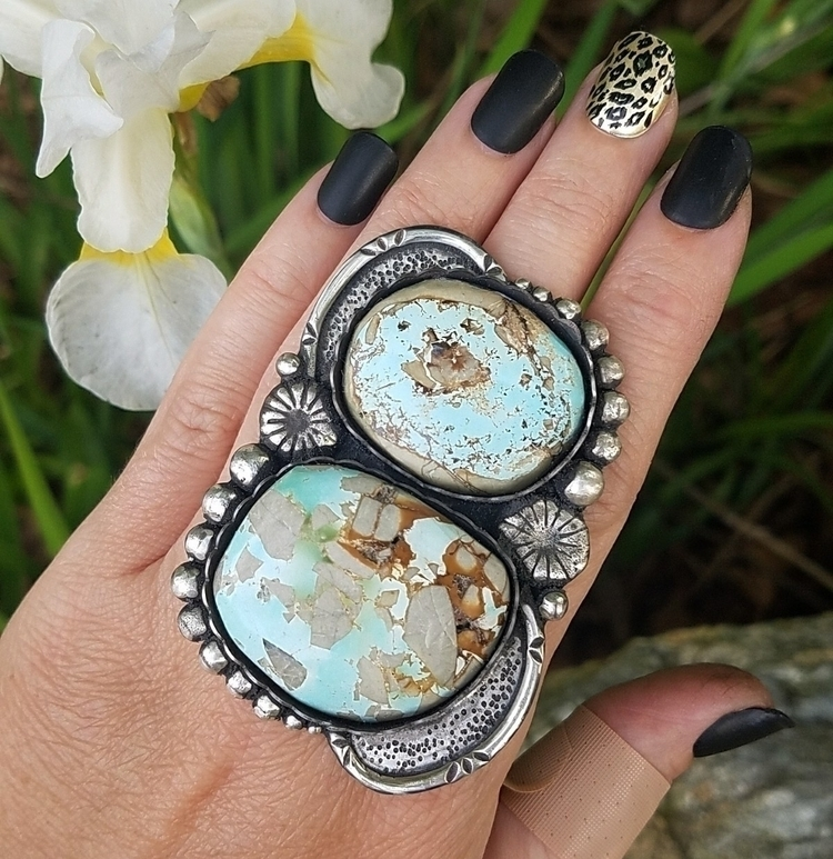 SOLDdouble Royston turquoise ri - eclecticblingjewelry | ello