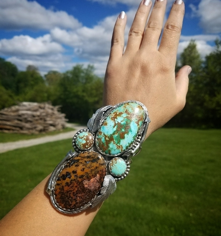 throw custom cuff turquoise mou - eclecticblingjewelry | ello