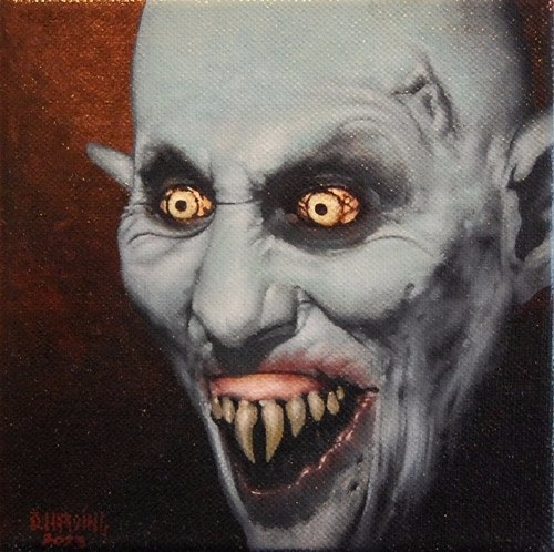 Barlow 6x6 oil canvas - darkart - danharding | ello