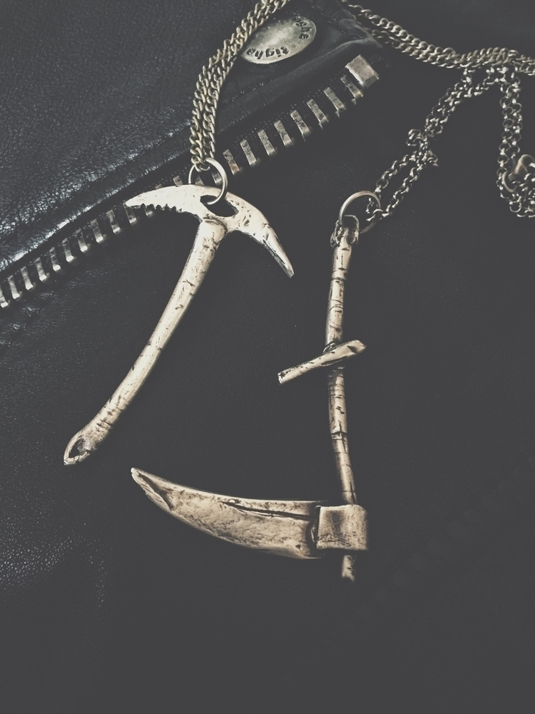 bit Scythe Iceaxe pendants. han - darkwoodjewelry | ello