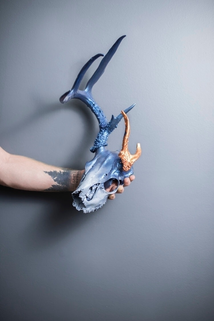 Asymmetrical Metallic Blue Whit - glitterandbone | ello