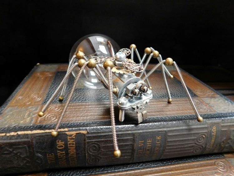 Steampunk Metal Spider Sculptur - peteandveronicas | ello