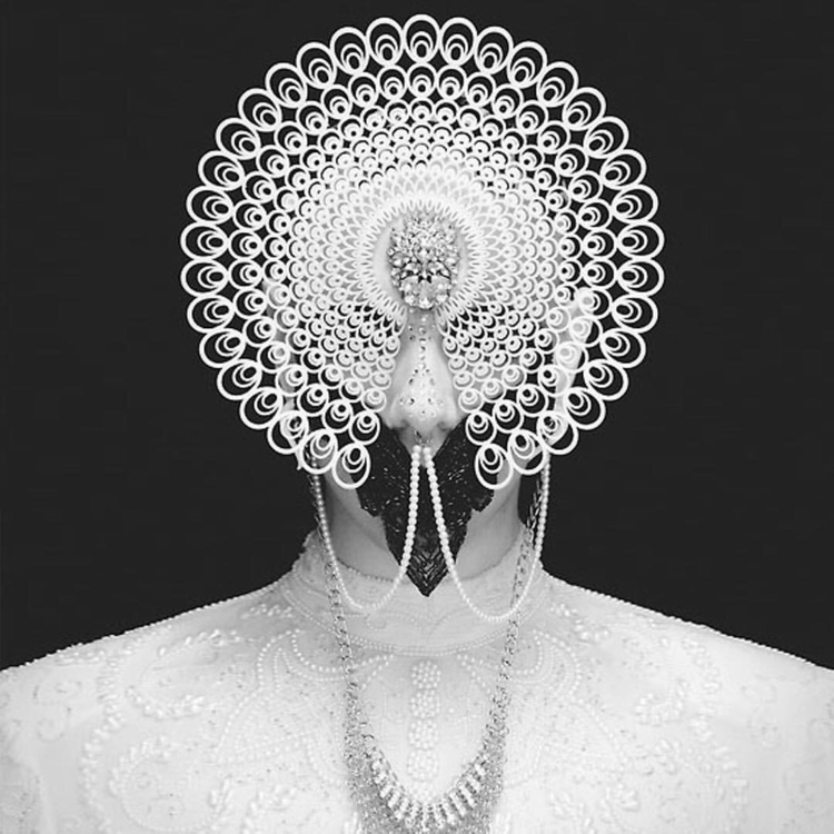portrait, surreal, pearls, peacock - mythicalforces | ello