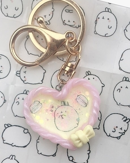 Molang keychain! :heart:️:heart - finysha | ello