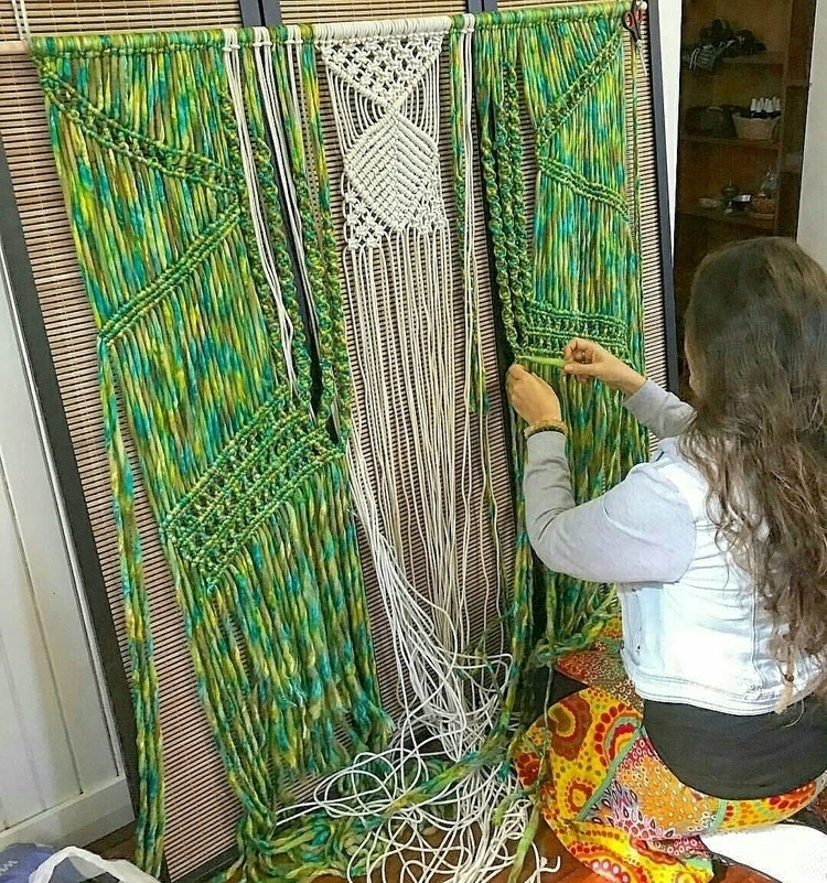 working macrame wall weaving At - lifelovesmedesigns | ello
