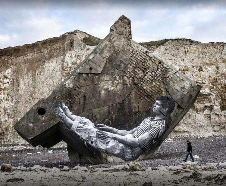 Artist: JR Location: Normandie - streetartunitedstates | ello