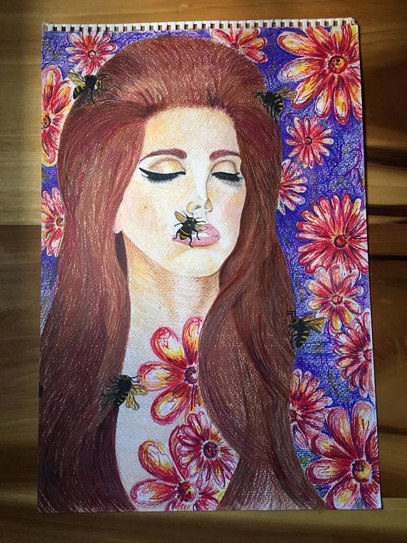 Lovely Lana Mixed Media Drawing - artbykaylabraden | ello