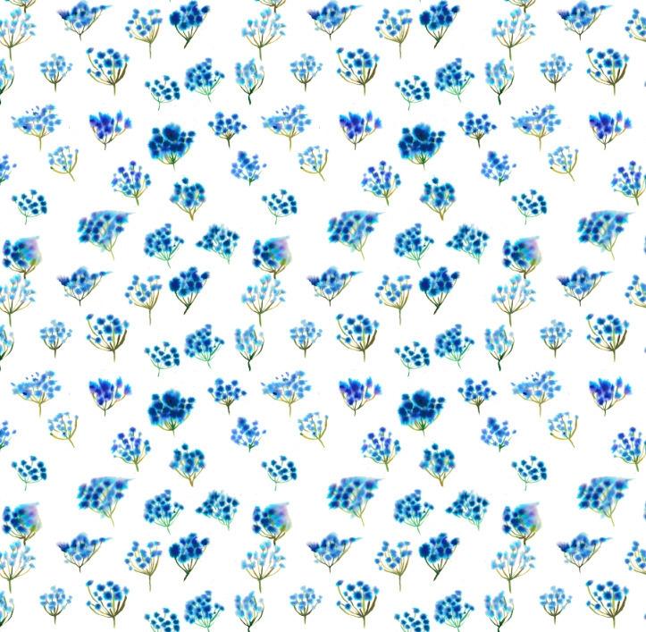 Blue Flower - textile,, surfacedesign, - rizotto | ello