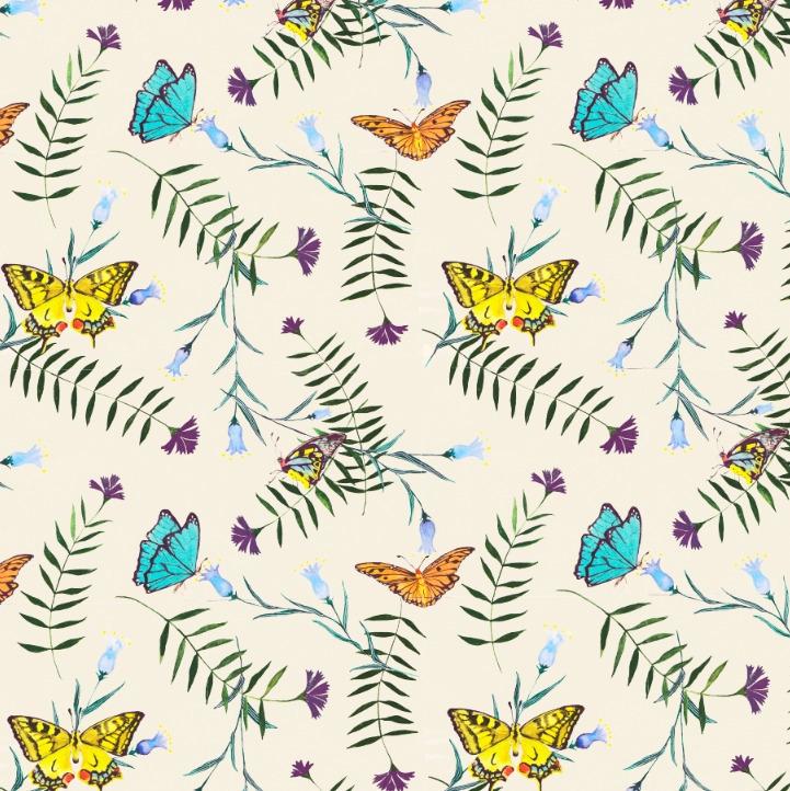 Butterfly spring - textile,, surfacedesign, - rizotto | ello
