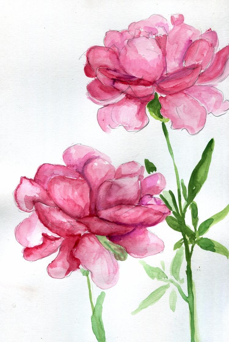 Smol Friend Watercolor Bristol  - havekat | ello