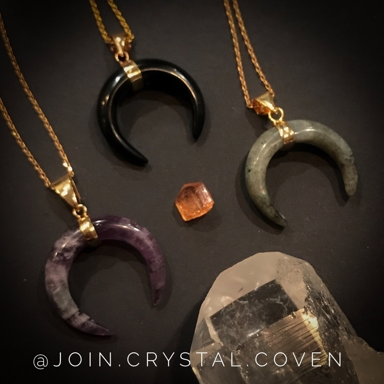 Moon RisingCrescent Pendants re - join_crystal_coven | ello