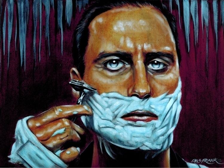 Shave Haircut - painting, wesanderson - dasfrankart | ello