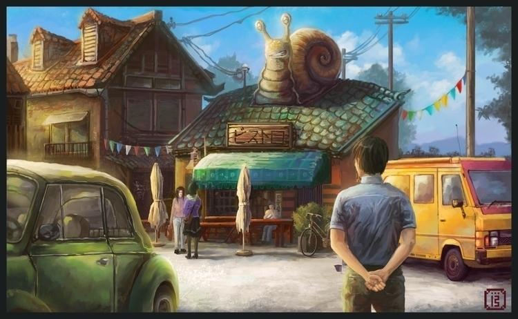 sunny snail bistro - add elemen - malthus_wolf | ello