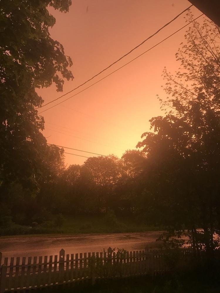 Sunset storm night - crazysky, sky - rootedearthfarm | ello