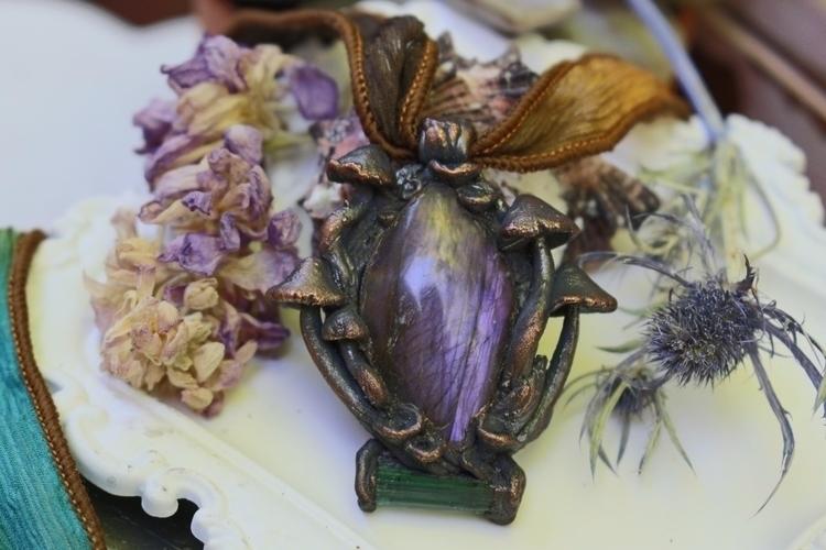 Purple labradorite tourmaline g - channelled_creations | ello