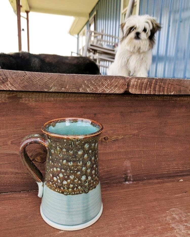 Puppy Bo peeping mug Hillbippie - hillippieclayco | ello