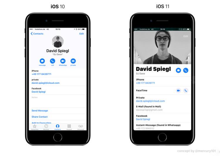 idea iOS 11 design refresh brin - mercury101 | ello