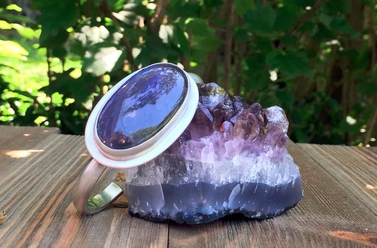Purple Labradorite Bracelet - S - violetvengeance | ello