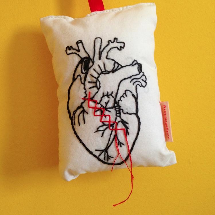 Heart Embroidery Carol Grilo - fofysfactory | ello