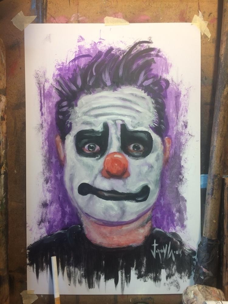 fast dirty oil paper portrait a - jeremycross | ello