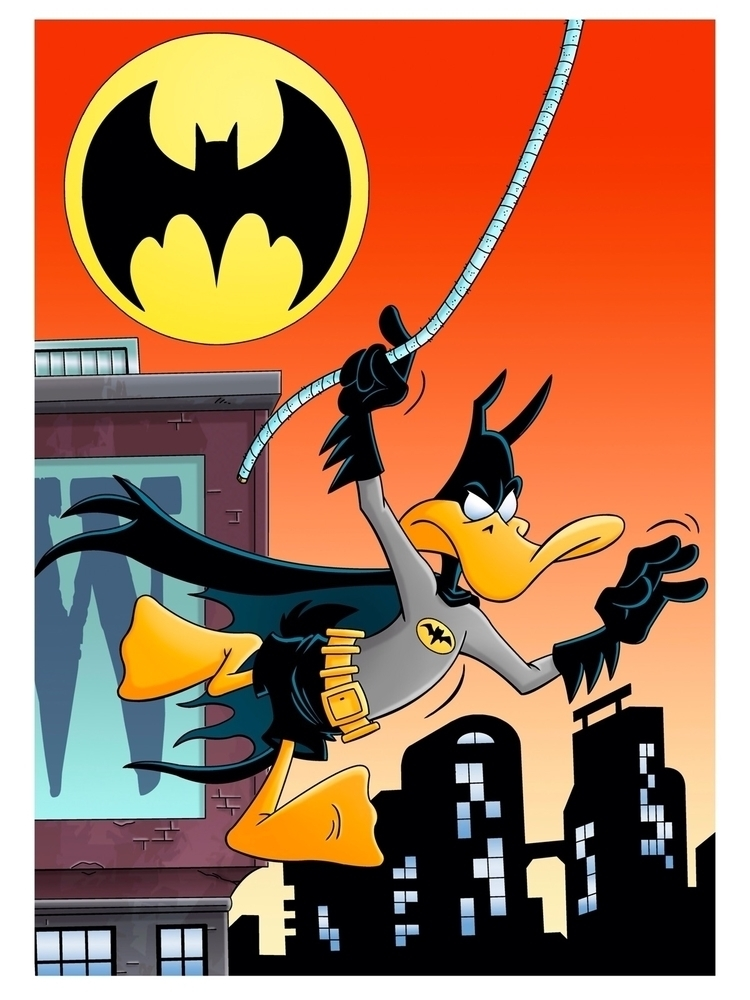 dressed - DaffyDuck, Batman, BatDuck - dave_windett | ello