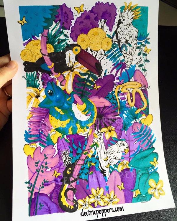 Jungle, traditional illustratio - electricpoppers | ello